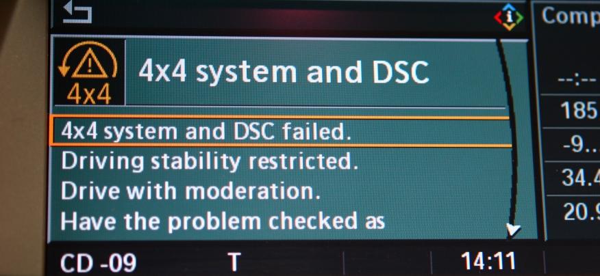 Fehlermeldung: 4x4 system and DSC